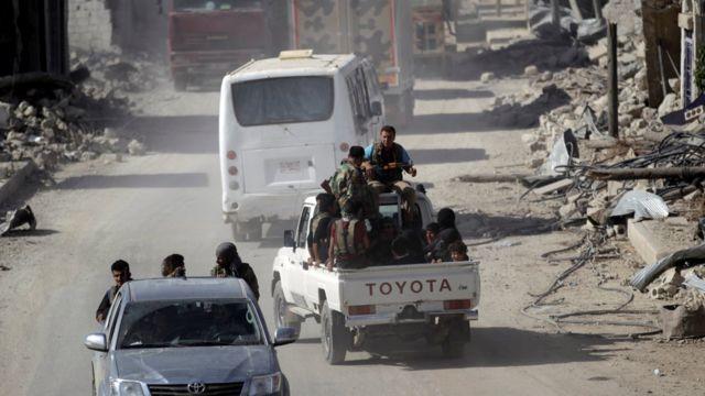 مقاتلو المعارضة في شمالي سوريا