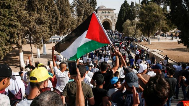 Палестинцы на Храмовой горе