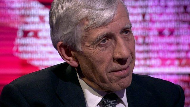 Former UK foreign secretary Jack Straw