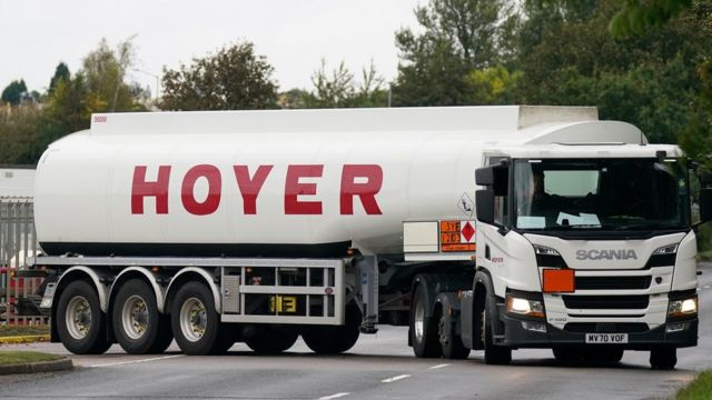 fuel truck.