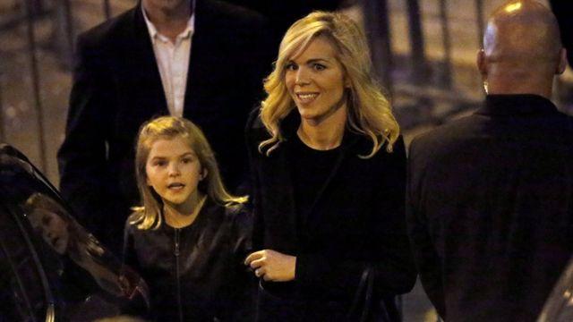 Laurence Auzière e uma das netas de Macron