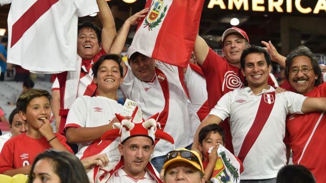 Aficionados peruanos en Estados Unidos.