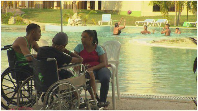 Foreign patients undergo rehabilitation at La Pradera, Havana