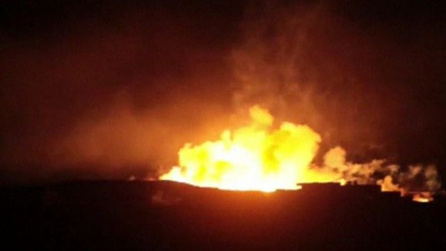 A purported phosphorus bomb attack on the town of Kafr Dael in Aleppo.