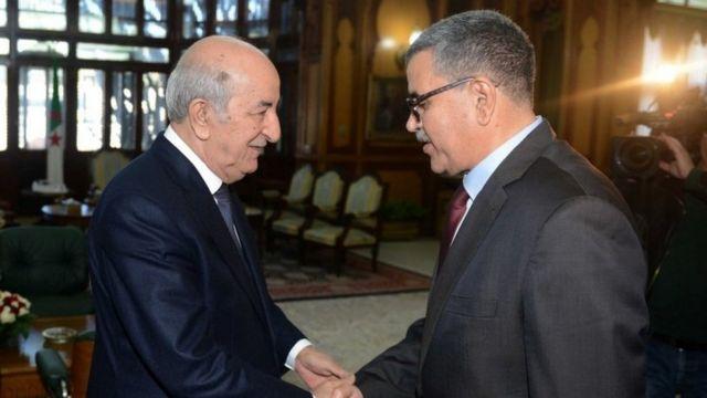 الرئيس الجزائري عبد المجيد تبون يستقبل عبد العزيز جراد.