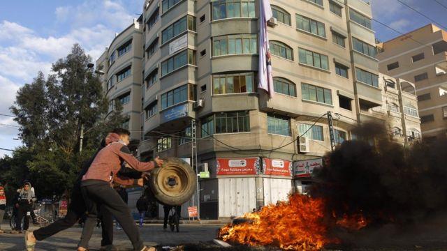 Gazze'deki protesto