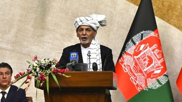 El presidente, Ashraf Ghani.