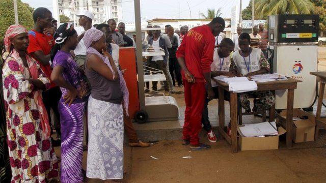 Votes cast in Guinea poll