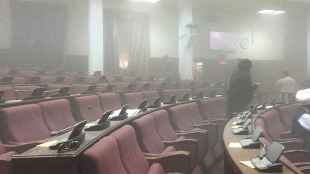 Photo taken by MP Naqibullah Faiq, who was present in parliament during the attack