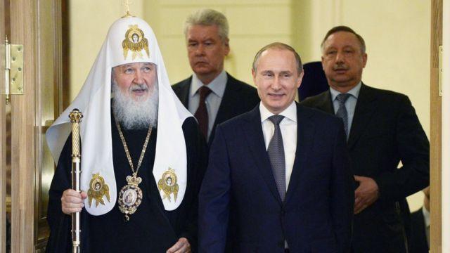 Путин, Патриарх Кирилл, Собянин, Беглов