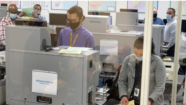 Centro de votación en Miami