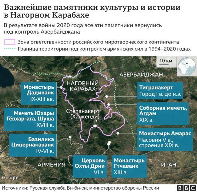 Памятники истории в Карабахе