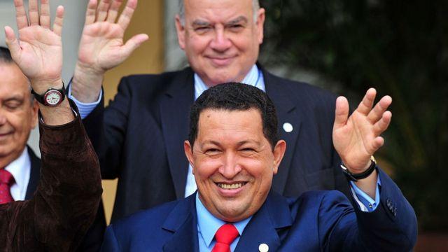 Hugo Chávez y Jorge Insulza