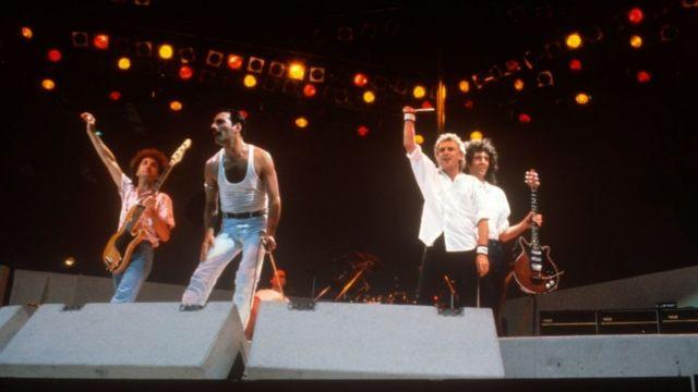 Queen em Wembley, em 1985