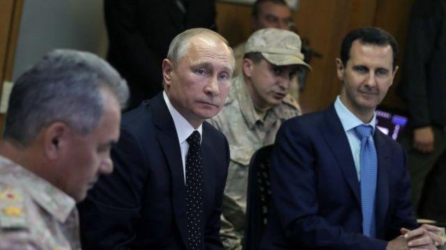 Putin na Bashar al-Assad mwaka 2017