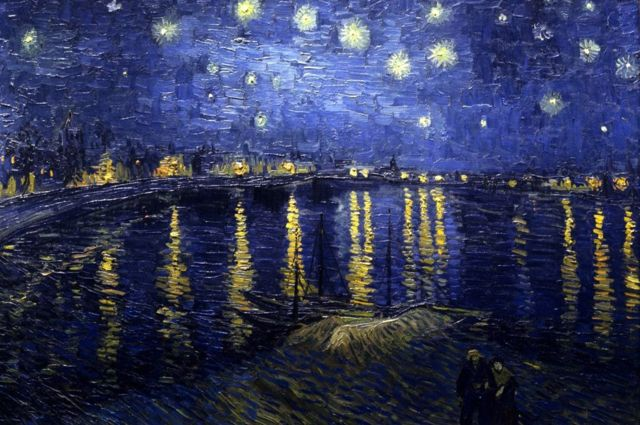 Starry night over the Rhone.  Vincent Willem van Gogh, 1888.