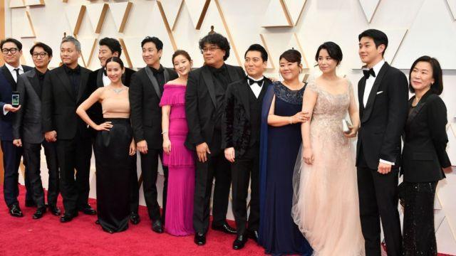 Bong Joon-ho ve film ekibi