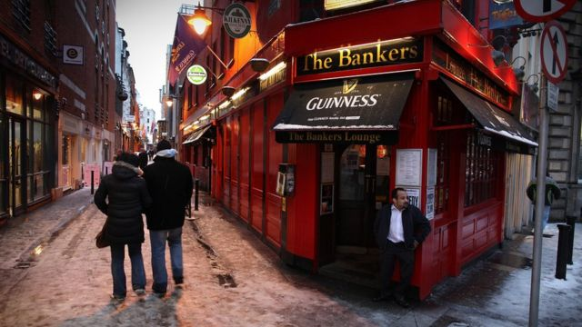 """Pub en Irlanda llamado """"El Banquero""""."""