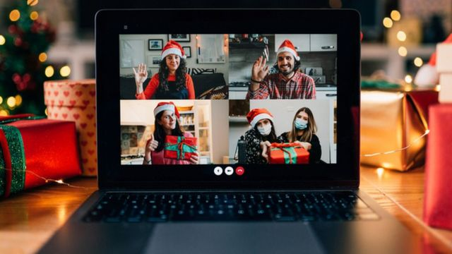Reunión navideña virtual