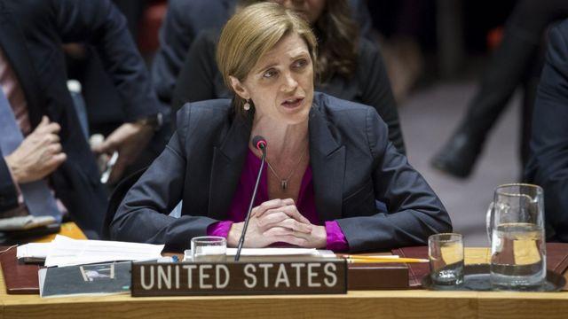 سامنثا باور مندوبة أمريكا في الأمم المتحدة