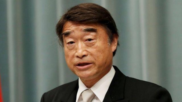 Ministro japonés Takumi Nemoto
