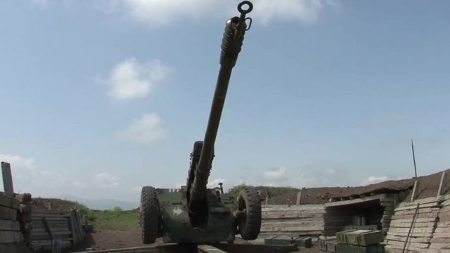 Artillery on the Nagorno-Karabakh conflict frontline