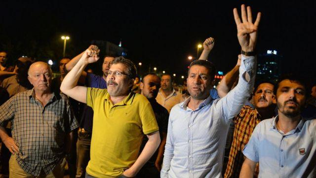 İstanbul'daki bir gösteri