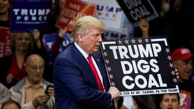 آقای ترامپ هوادار صنعت زغال سنگ است