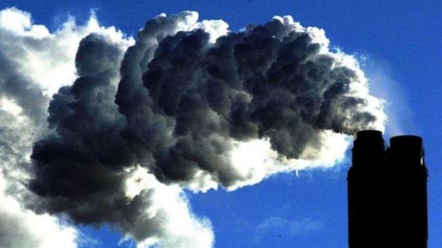Emisiones de CO2 una planta industrial