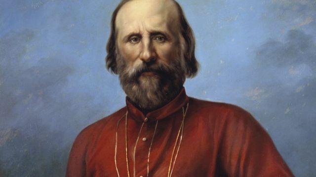 Garibaldi em uma roupa vermelha