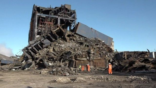 Wreckage at Didcot power station