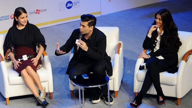 অ্যায় দিল হ্যায় মুশকিলের নির্মাতা করন জোহর, সাথে দুই অভিনেত্রী ঐশ্বরিয়া রাই ও আনুশকা শর্মা