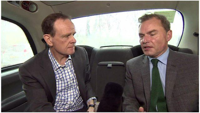 Norman Smith with Peter Whittle.