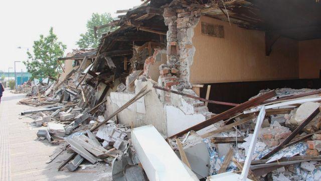 Srušeni objekti u Savamali
