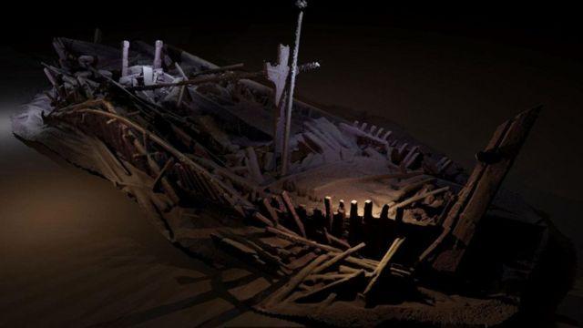 Ilustração de naufrágio