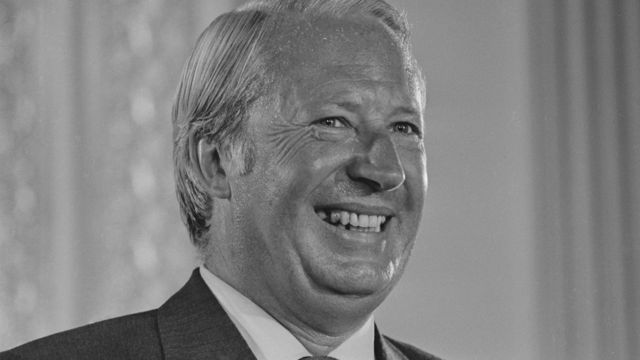 British Prime Minister Edward Heath (1916-2005) at a world press conference on Britain's entry into the Common Market