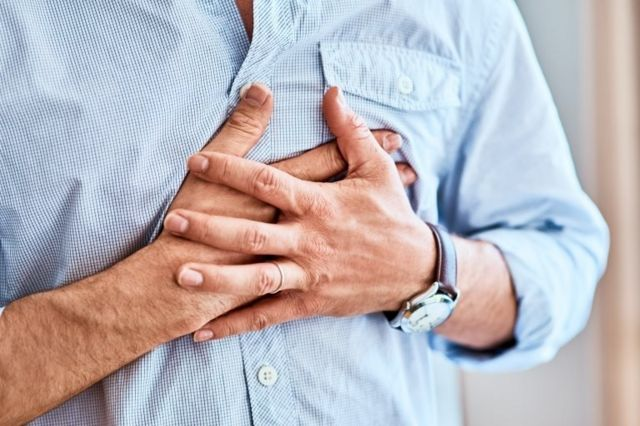 Generic close-up of man with chest pain