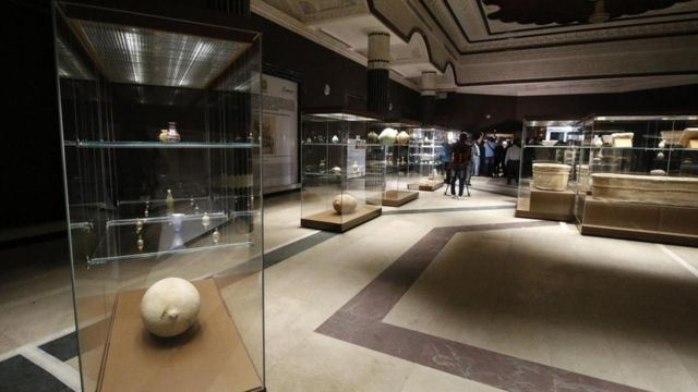 La sala del museo actualmente abierta al público