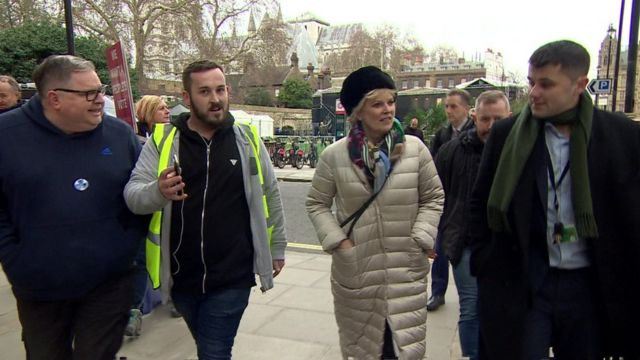 Protester admits calling MP Anna Soubry a Nazi
