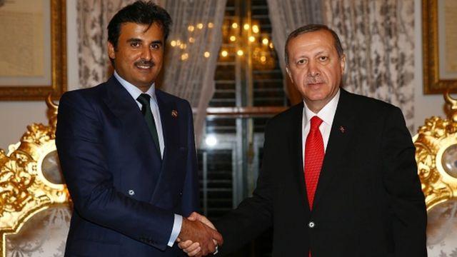 Katar Emiri el Sani ve Cumhurbaşkanı Erdoğan