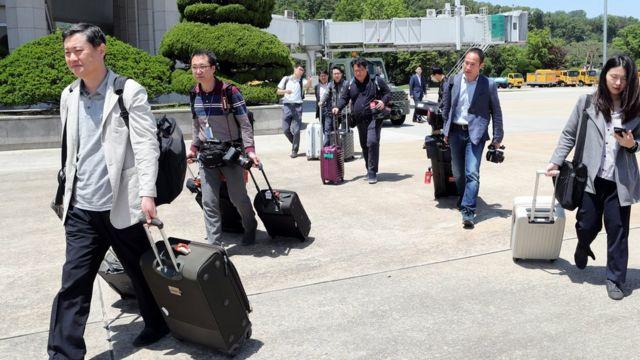 خبرنگاران کره جنوبی عازم شمال