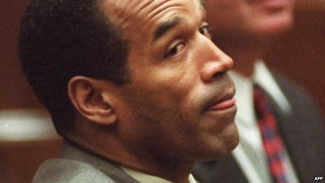 OJ Simpson - pictured during his murder trial - 11 February 1995