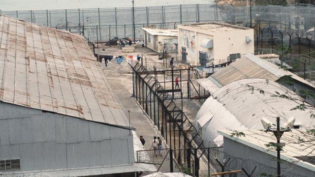 越南船民居住的难民营