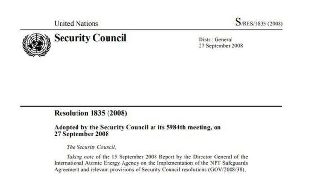 UNSC Resolustion