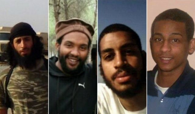Mohammed Emwazi, Aine Davis, Alexanda Kotey and El Shafee Elsheikh (l to r)