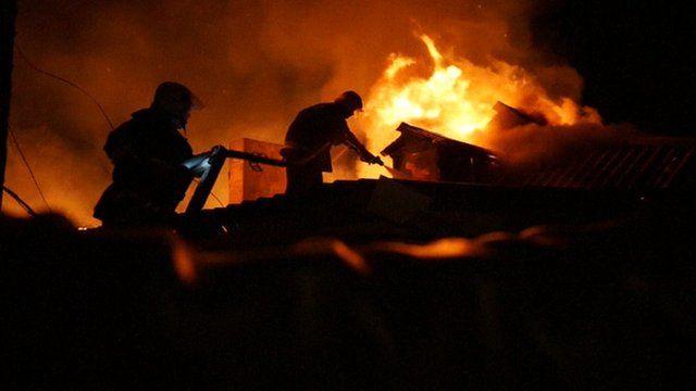 Fire in Eastern Ukraine