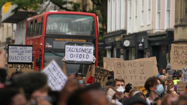 A Black Lives Matter protest in Oxford