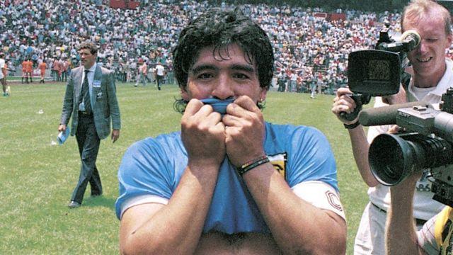 Maradona con camiseta Argentina