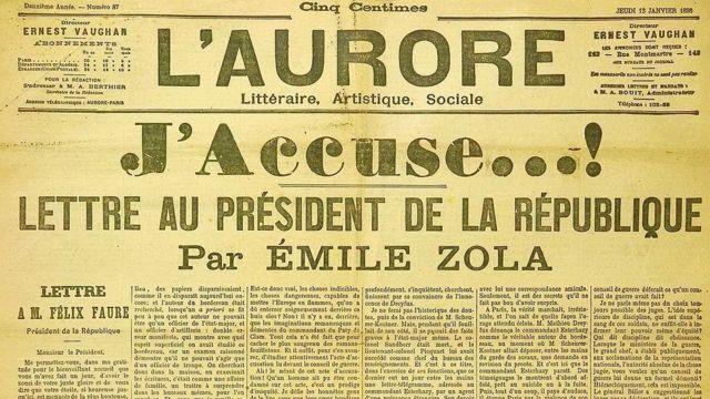 J'Acusse...! publicada en el periódico