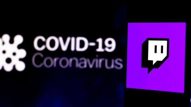 Twitch and coronavirus graphic.